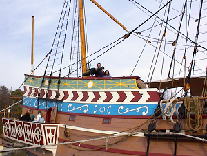 The type of small ship Andrew would have taken to the New World